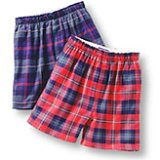 Men's Regular Full Cut Flannel Boxers