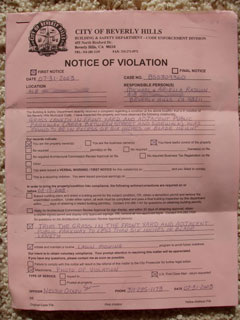 NOTICE OF VIOLATION (400k image)
